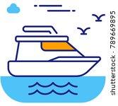 holiday summer cruise ship... | Shutterstock .eps vector #789669895
