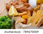 macro view on green peas  fish... | Shutterstock . vector #789670009