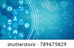 background with medical and... | Shutterstock . vector #789675829