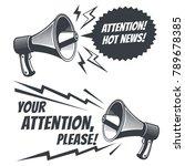 attention please vector symbols ... | Shutterstock .eps vector #789678385