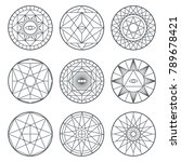 spiritual alchemy vector... | Shutterstock .eps vector #789678421
