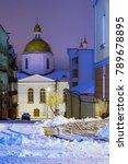 winter night street of polotsk... | Shutterstock . vector #789678895