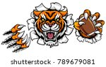 a tiger angry animal sports... | Shutterstock .eps vector #789679081