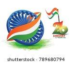 republic day  26 january  | Shutterstock .eps vector #789680794
