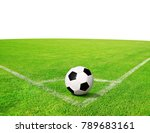 soccer ball on green grass with ... | Shutterstock . vector #789683161