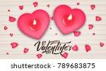 valentines day. valentines day... | Shutterstock .eps vector #789683875