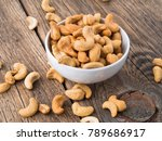 cashew nuts in  white cup on... | Shutterstock . vector #789686917