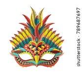 carnival mask. vector... | Shutterstock .eps vector #789687697