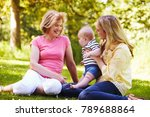 grandmother and mother playing... | Shutterstock . vector #789688864