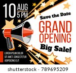 grand opening ceremonial vector ... | Shutterstock .eps vector #789695209