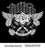 tattoo design. shirt graphic... | Shutterstock .eps vector #789695959