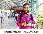 Bearded Indian Man On Metro...