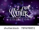 new winter collection fashion... | Shutterstock .eps vector #789698851