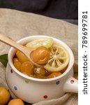 homemade kumquat fruit tea in... | Shutterstock . vector #789699781