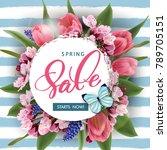 spring sale concept. spring... | Shutterstock .eps vector #789705151