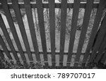 black and white wooden fence... | Shutterstock . vector #789707017