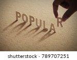 popular wood word on compressed ...   Shutterstock . vector #789707251