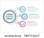 circle infographic template... | Shutterstock .eps vector #789713617