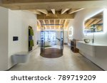 luxury bathroom with shower and ... | Shutterstock . vector #789719209