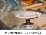 to process the edge of glass.... | Shutterstock . vector #789724921
