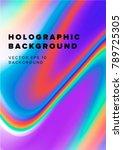 holographic vaporwave... | Shutterstock .eps vector #789725305