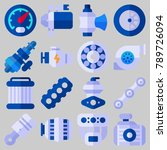 icon set about car engine with... | Shutterstock .eps vector #789726094