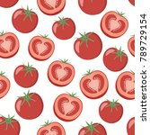 seamless pattern with juicy... | Shutterstock .eps vector #789729154