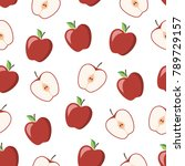 seamless pattern with a... | Shutterstock .eps vector #789729157