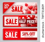 valentines day sale vector... | Shutterstock .eps vector #789731809