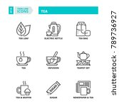 line icons about tea | Shutterstock .eps vector #789736927