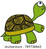 animal cute turtle   | Shutterstock .eps vector #789738865