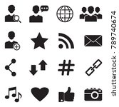 social media icons. black flat... | Shutterstock .eps vector #789740674