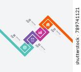 business infographics template... | Shutterstock .eps vector #789741121