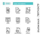 line icons about legal documents | Shutterstock .eps vector #789743479
