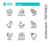 line icons about easter | Shutterstock .eps vector #789746821