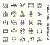 baby line icons set dummy and... | Shutterstock .eps vector #789749851