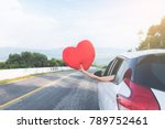 relaxed happy traveler  young... | Shutterstock . vector #789752461