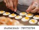 cooking fresh thai crispy...   Shutterstock . vector #789753784