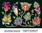 beautiful seamless vector... | Shutterstock .eps vector #789753907