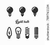 lamp light bulb outline vector... | Shutterstock .eps vector #789761134