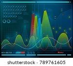 data analysis  visualization... | Shutterstock .eps vector #789761605