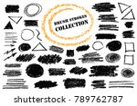 hand drawn pencil shapes.... | Shutterstock .eps vector #789762787