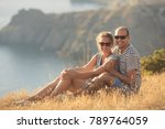 romantic couple have a date at... | Shutterstock . vector #789764059