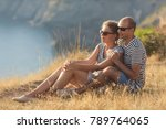 romantic couple have a date at... | Shutterstock . vector #789764065