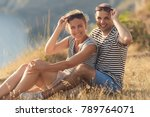 romantic couple have a date at... | Shutterstock . vector #789764071
