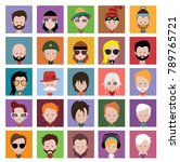 people icons in flat cartoon... | Shutterstock .eps vector #789765721