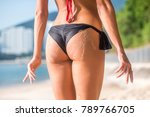 sporty female butt in with two... | Shutterstock . vector #789766705