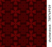 seamless pattern with cross and ... | Shutterstock .eps vector #789769939