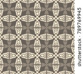 seamless pattern with cross and ... | Shutterstock .eps vector #789769945