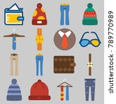 icon set about man accessories... | Shutterstock .eps vector #789770989